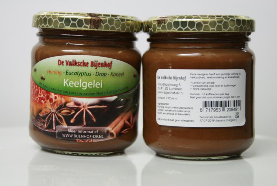keelgelei honing-drop-eucalyptus-anijs - imkerij de valksche bijenhof